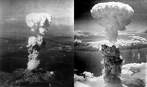 Photography of two explosions from nuclear weapons